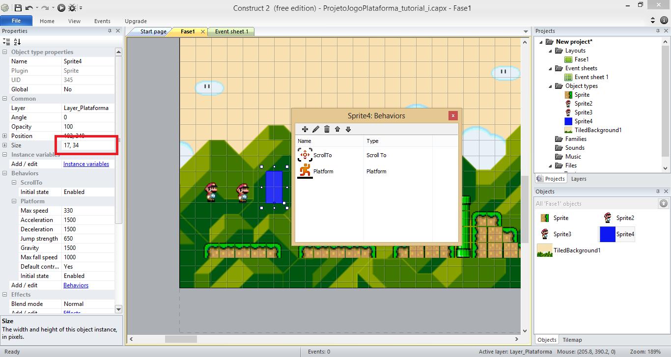 Como fazer um jogo plataforma com construct 2 parte i dadrix print013 baditri Gallery